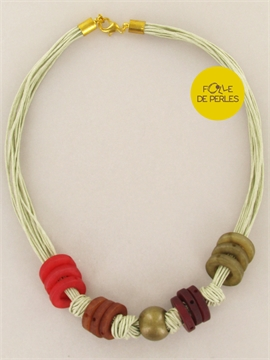 Collier intemporels multicolore