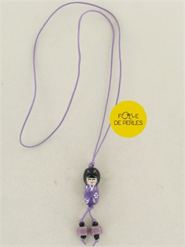 Collier asian style violet