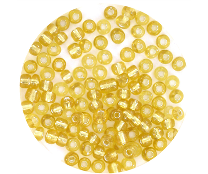 rocaille verre jaune d 39 or p le transparent brillant cristal 3mm 70 perles f14799 folle de perles. Black Bedroom Furniture Sets. Home Design Ideas